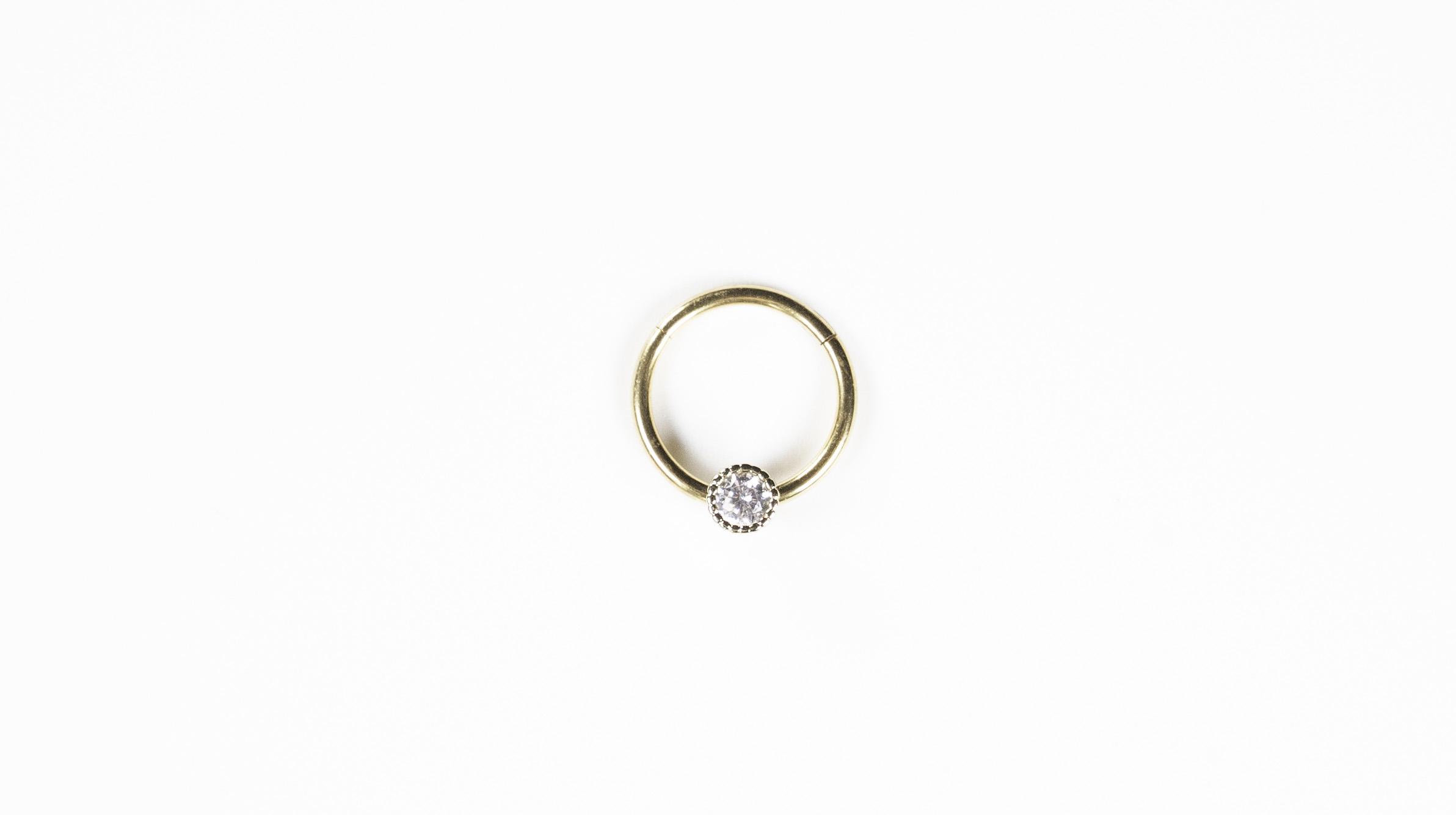 Diamond Solitaire Huggie - Bella Andrea London (2)