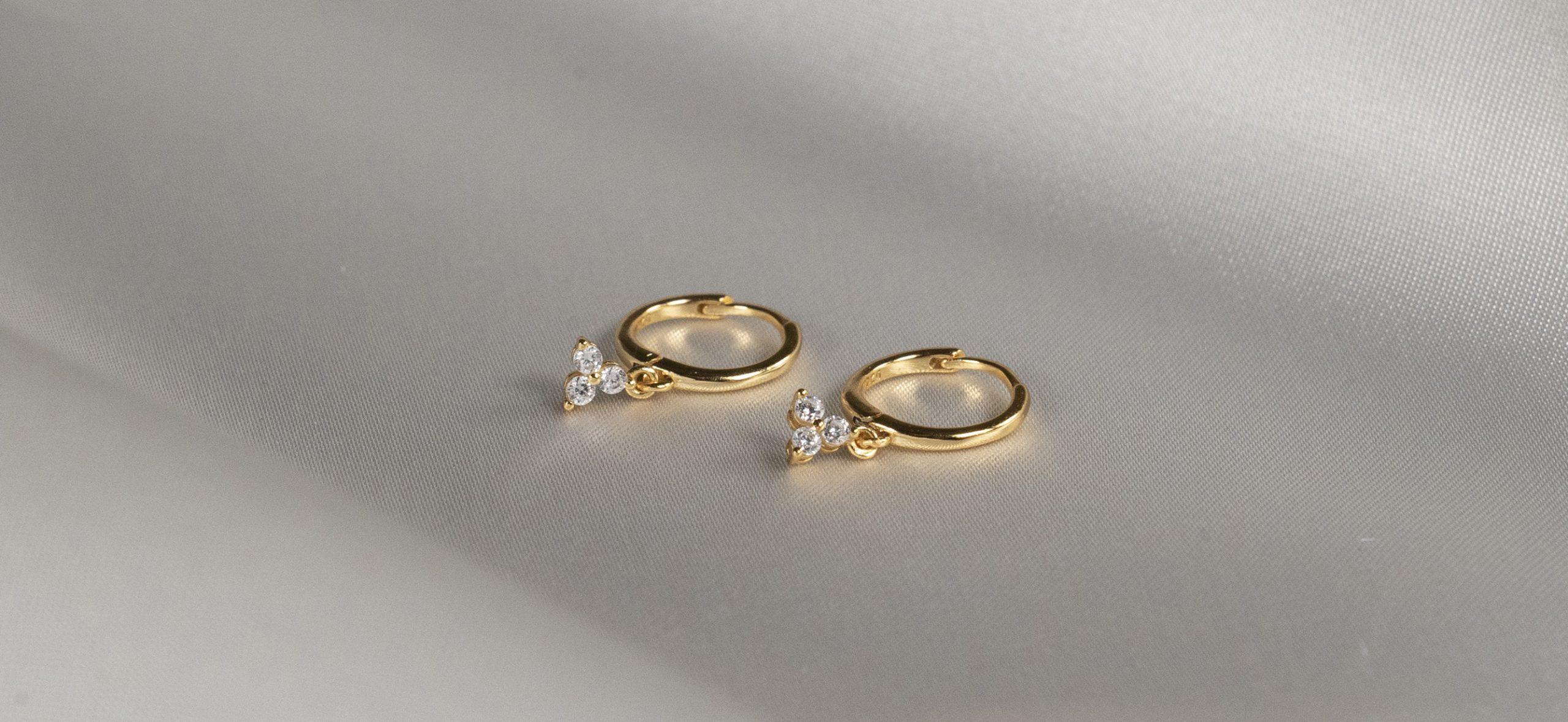 Gold Plated Hoop with Trigem Piercings - Bella Andrea Piercing Jewellery