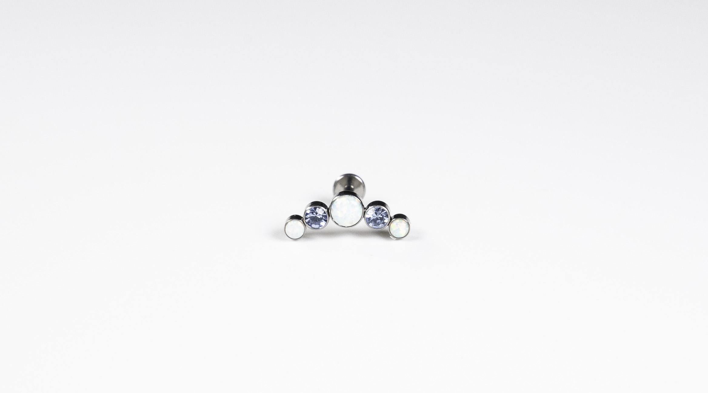 Titanium Curved Cluster Jewel - Bella Andrea London Piercing Jewellery